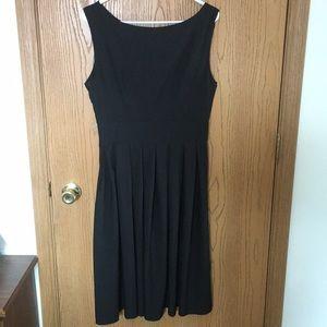 Black Swoop Neck Dress